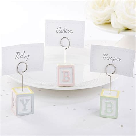 Baby Shower Place Card Holders by Baby Blocks Place Card Holders