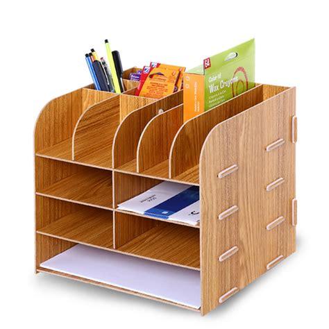 Wooden File Rack File Holder Multi function Desktop