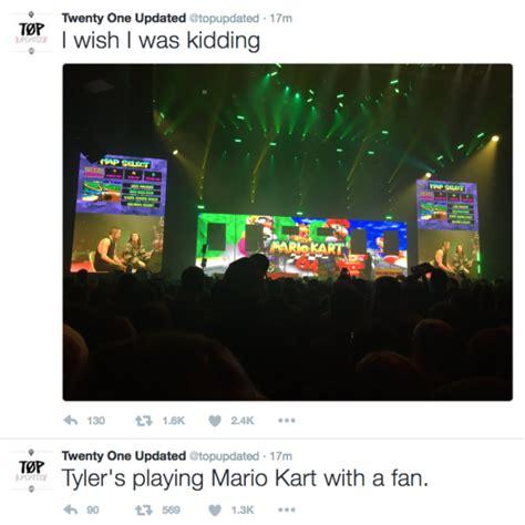 one stop fan watch twenty one pilots stop show to play quot mario kart