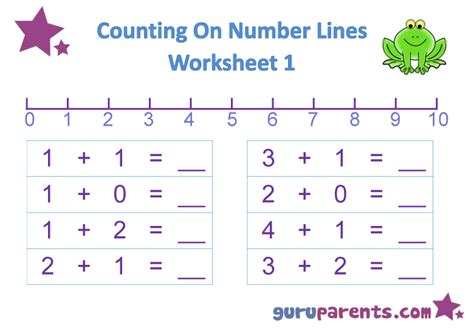 printable number line worksheets for kindergarten number line worksheets guruparents