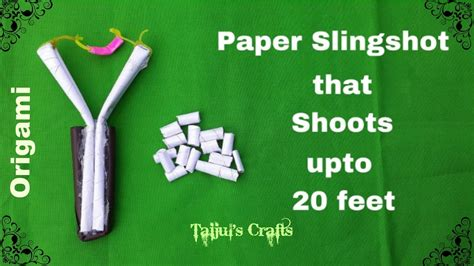 How To Make Paper Slingshot - how to make a simple paper slingshot origami slingshot