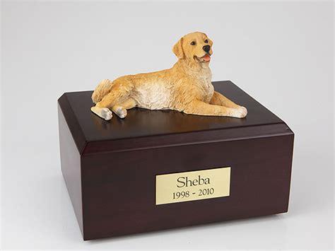 golden retriever urn golden retriever golden laying figurine urn memorial urns
