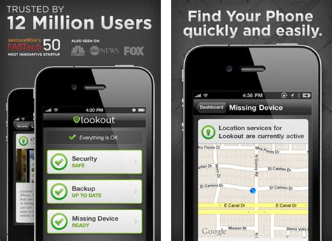 lookout mobile security iphone lookout mobile security launches its iphone app