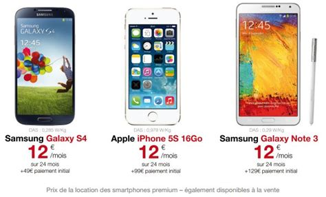 mobile free free mobile smarphones en location iphone 5s ou s4 224 12