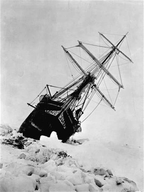 ernest shackleton's expedition ship endurance trapped in
