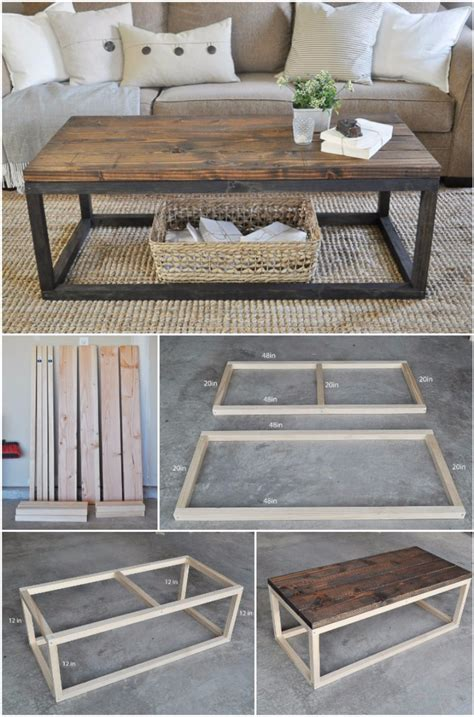 diy table 20 cool easy to do diy coffee table ideas home magez