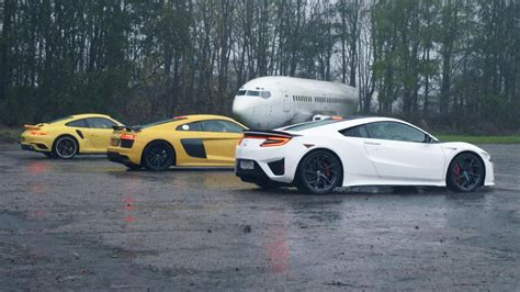 Nsx Vs R8 by Chris Harris Drives Honda Nsx Vs Audi R8 V10 Vs Porsche