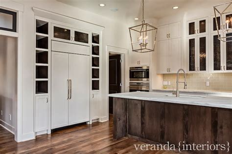 veranda interiors paneled refrigerator transitional kitchen veranda