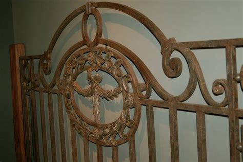 antique king bed with wooden frame and foot board iron antique king bed with wooden frame and foot board iron