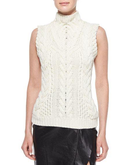 sleeveless cable knit sweater altuzarra sleeveless cable knit sweater neiman