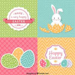 set of easter cards vector free
