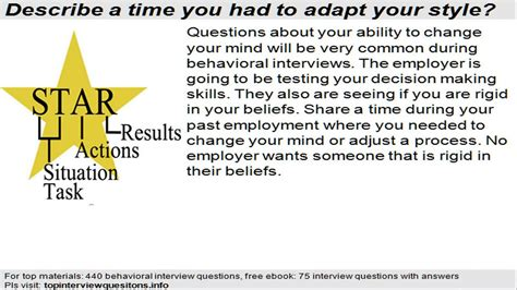 star behavioral interview questions  answers youtube