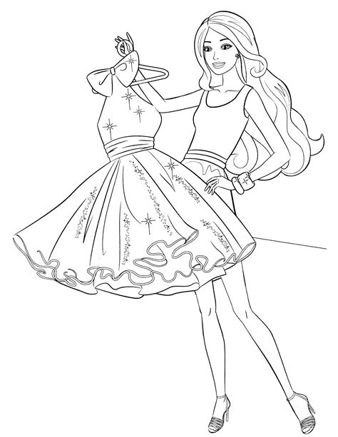 images of coloring pages of barbie barbie coloring pages 2018 z31 coloring page