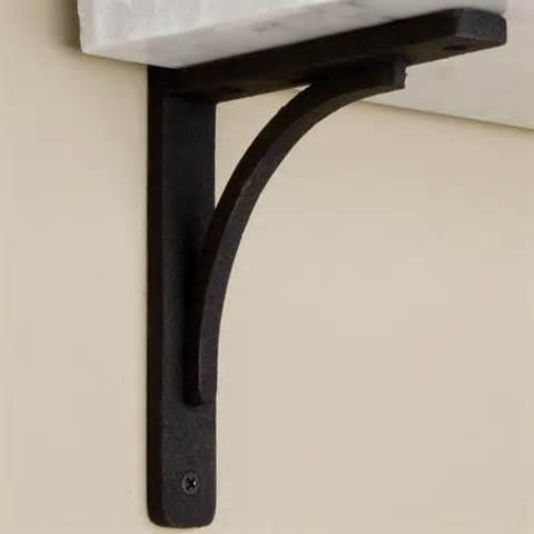 Rustic cast iron shelf bracket hardware
