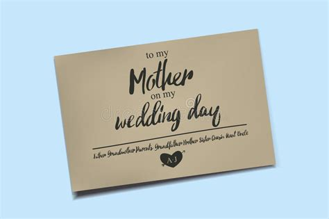 thank you letter to my on my wedding day thank you card on my wedding day stock illustration