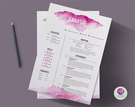 cv template cover letter template reference letter
