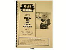 Foley Belsaw Chain Saw Chain Grinder Model 550 1 Chainsaw