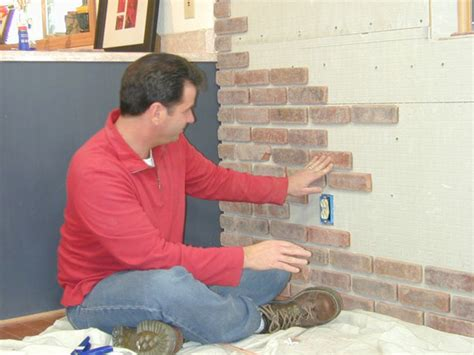 how to install interior brick veneer how tos diy