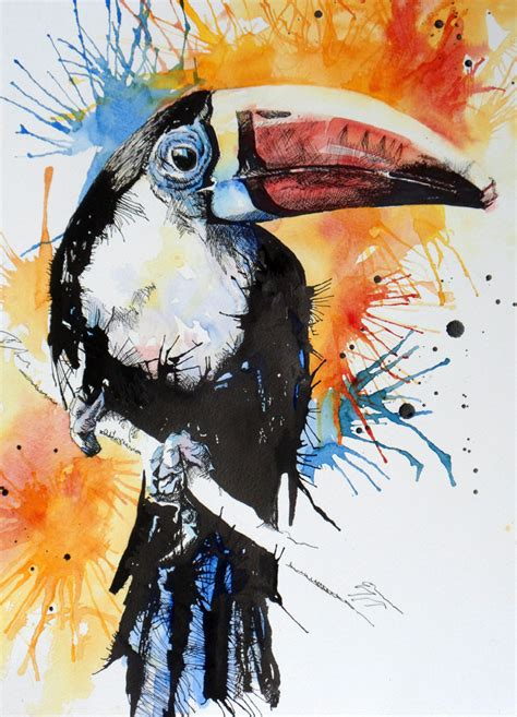 painting of zoo animals the animal world in watercolour