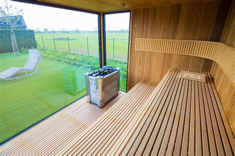 garten sauna optirelax vip gartensauna deluxe
