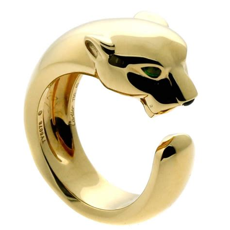cartier panthere yellow gold ring at 1stdibs