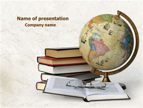 Study Geography Powerpoint Template Backgrounds 07874 Poweredtemplate Com Geography Powerpoint Templates