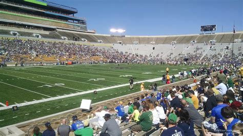 notre dame stadium visitor section notre dame stadium section 13 rateyourseats com