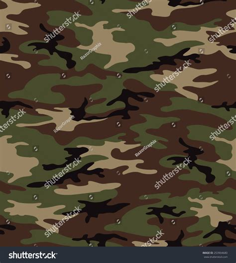 seamless army pattern army camouflage seamless pattern stock vector illustration