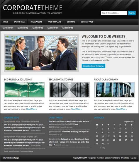 themes wordpress corporate 2011 wordpress corporate theme for business websites dobeweb