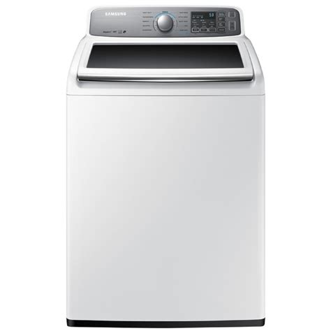 shop samsung 4 8 cu ft high efficiency top load washer white energy at lowes