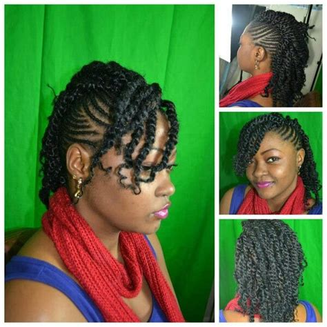 two twisted marley hair style 2 strand twisted half up half down style ultimate