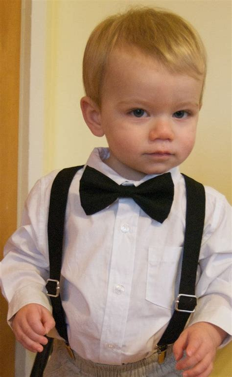 Boy Set Suspender Gapkids Bow Tie Suspenders Set Any Solid Color Baby Toddler