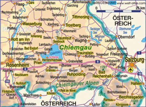 Motorradtour Rosenheim by Map Of Chiemgau Germany Bavaria Map In The Atlas Of