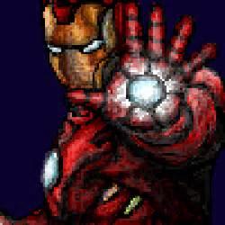 pixel art iron man ironman comic super hero realistic