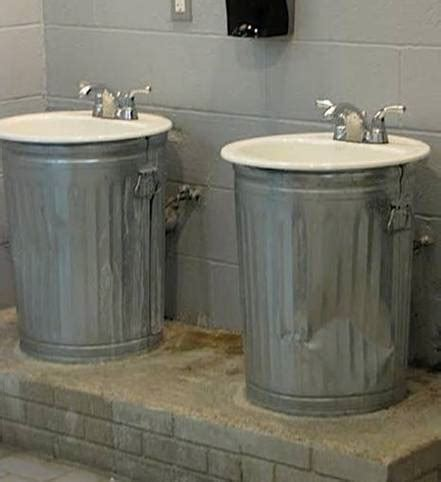garage bathroom ideas sinks over garbage cans fail home garden do it