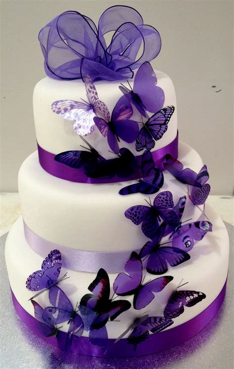 Lila Top Teal White black white and purple wedding cakes idea in 2017