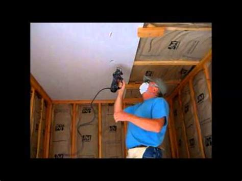 Installing Ceiling Drywall Alone how i hang sheetrock drywall on the ceiling by myself
