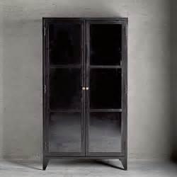 vitrine mit schubladen tine k home metall vitrine mit glasfront schwarz