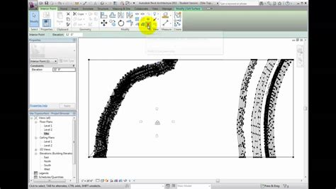 tutorial of revit architecture 2011 revit architecture 2011 tutorial modifying a toposurface