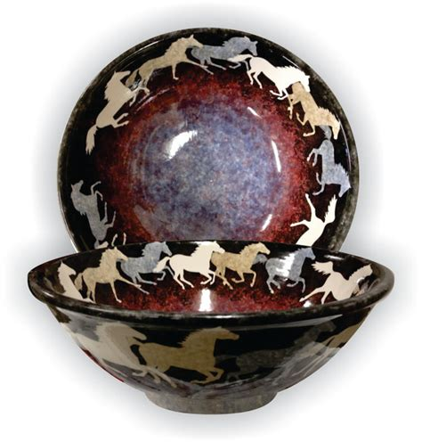 Decorative Ceramic Bowls by Decorative Functional Ceramic Bowls With Running Horses