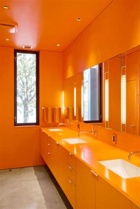 yellow and orange bathroom 41 best bathroom in orange color images on pinterest