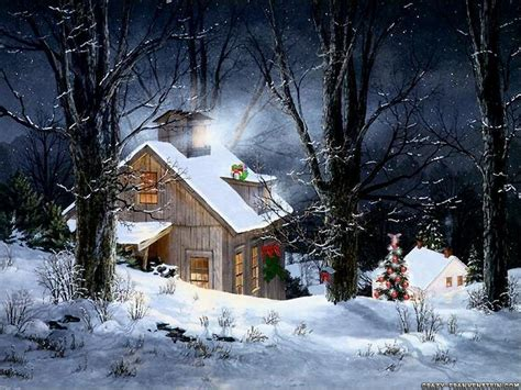 Snowy Cabins by Snowy Cabin Wallpaper 9514019 Fanpop