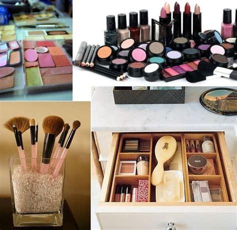 tips ideas  organizing  makeup