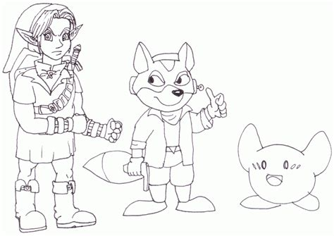 super smash brothers coloring pages  printable