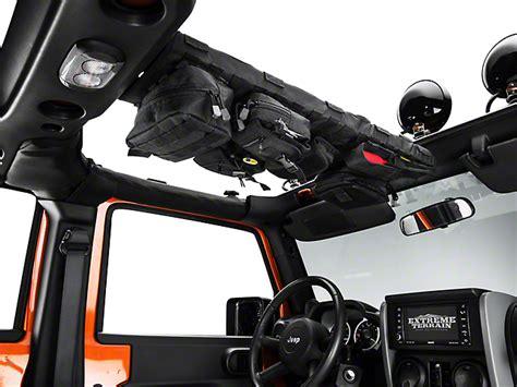 jeep wrangler overhead storage smittybilt wrangler gear overhead console black 5666001