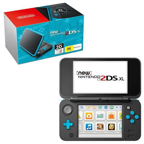Black Xl New Nintendo 2ds Xl Black Tourquoise Console The Gamesmen