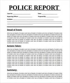 Crime Report Writing by Sle Report 7 Documents In Word Pdf