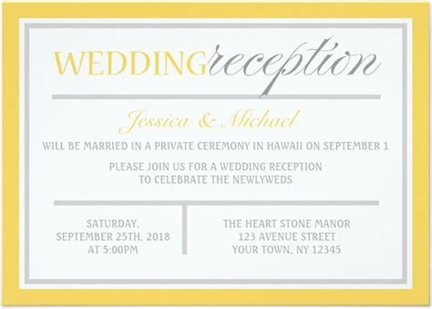 content for wedding reception invitation 21 beautiful at home wedding reception invitations