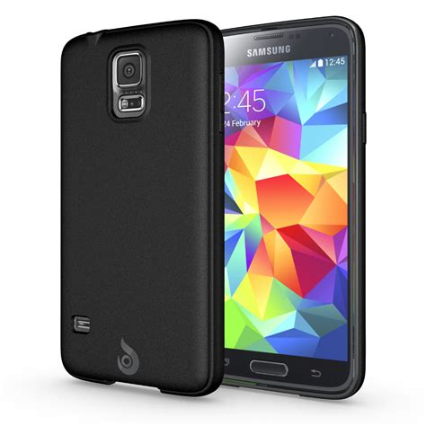 matte galaxy diztronic matte back black tpu case for galaxy s5