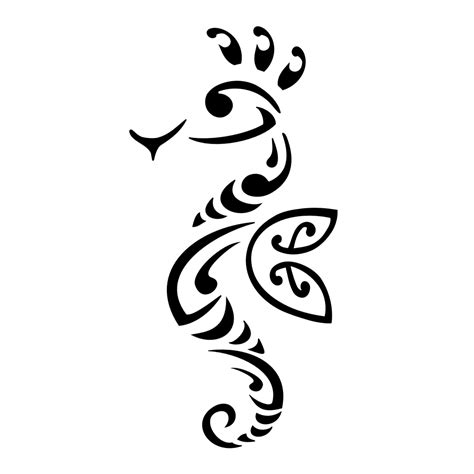 tribal seahorse tattoos one of my goals in search of me